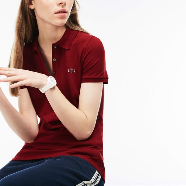 Lacoste Women's Slim Fit Stretch Mini Cotton Piqué Polo