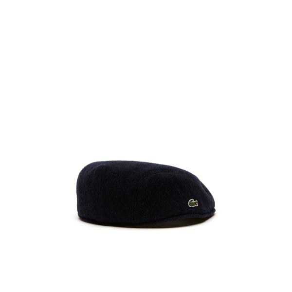 Lacoste Men's Wool Broadcloth Flat Cap