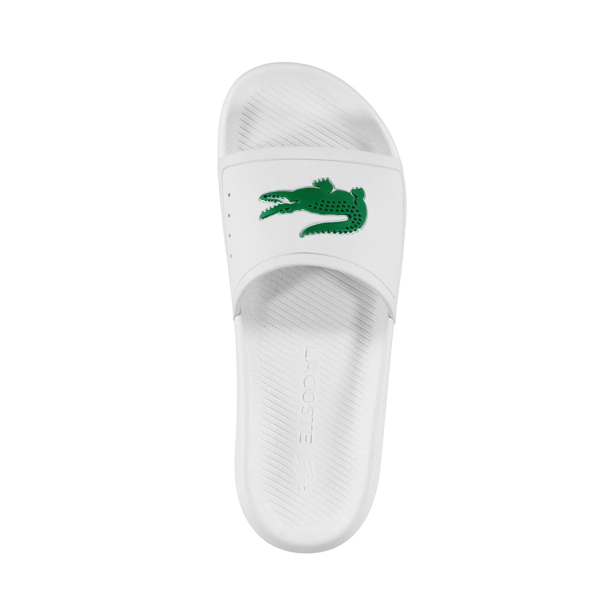 Lacoste Men's Croco Water-Repellent Synthetic Slides