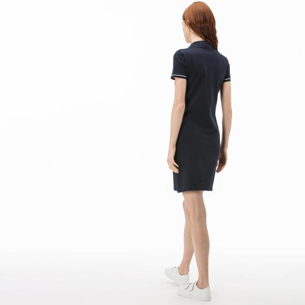 Lacoste Women's Polo Collar Short Sleeve Dress