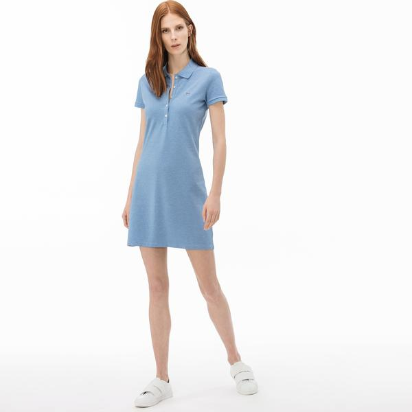 Lacoste Women's Stretch Cotton Mini Piqué Polo Dress