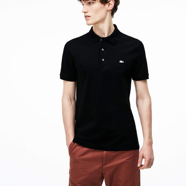 Lacoste Men's Slim fit Polo Shirt in stretch petit piqué