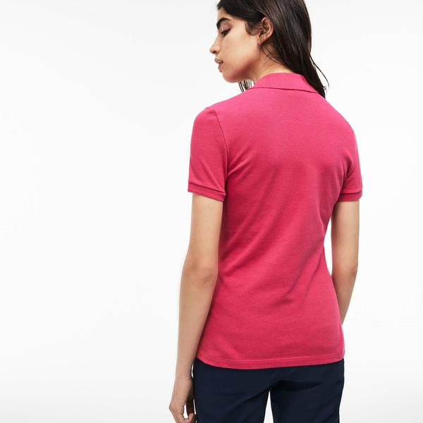 Lacoste Women's Slim Fit Stretch Mini Cotton Piqué Polo Shirt