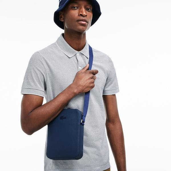 Lacoste Men's Chantaco Soft Leather Vertical Zip Bag