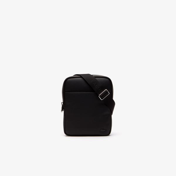 Lacoste Men's Gaël Coated Piqué Canvas Small Flat Zip Bag