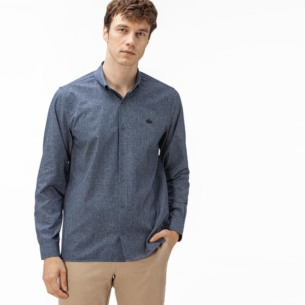 Lacoste Men's Long Sleeve woven shirt