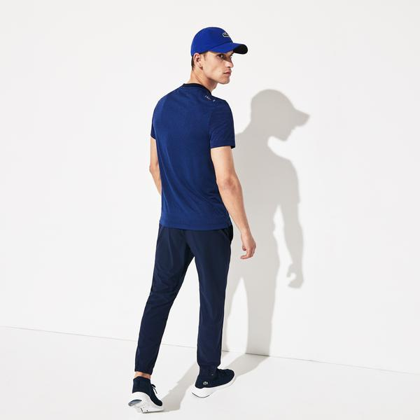 Lacoste Sport Men's X Novak Djokovic Heathered Tech Jersey Polo Shirt