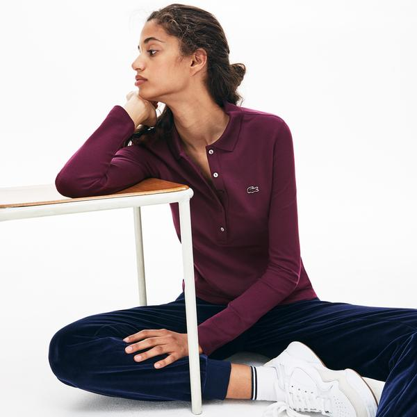Lacoste Women's Slim Fit Stretch Mini Piqué Polo Shirt