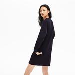 Lacoste Women's Motion Ribbed Panels Two-Ply Sweatshirt Dress