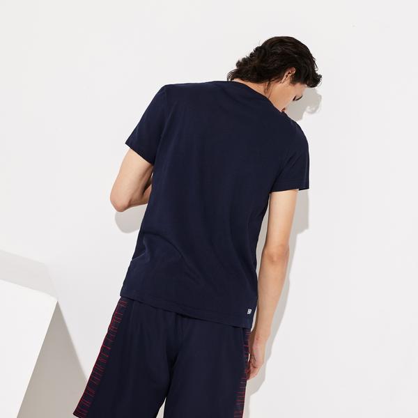 Lacoste Sport Men's Oversized Crocodile Technical Jersey Tennis T-Shirt