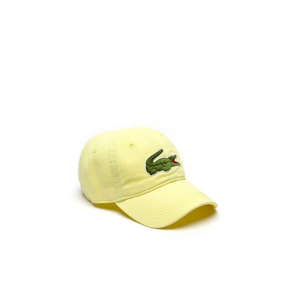 Lacoste Men's Gabardine Cap With Oversized Crocodile