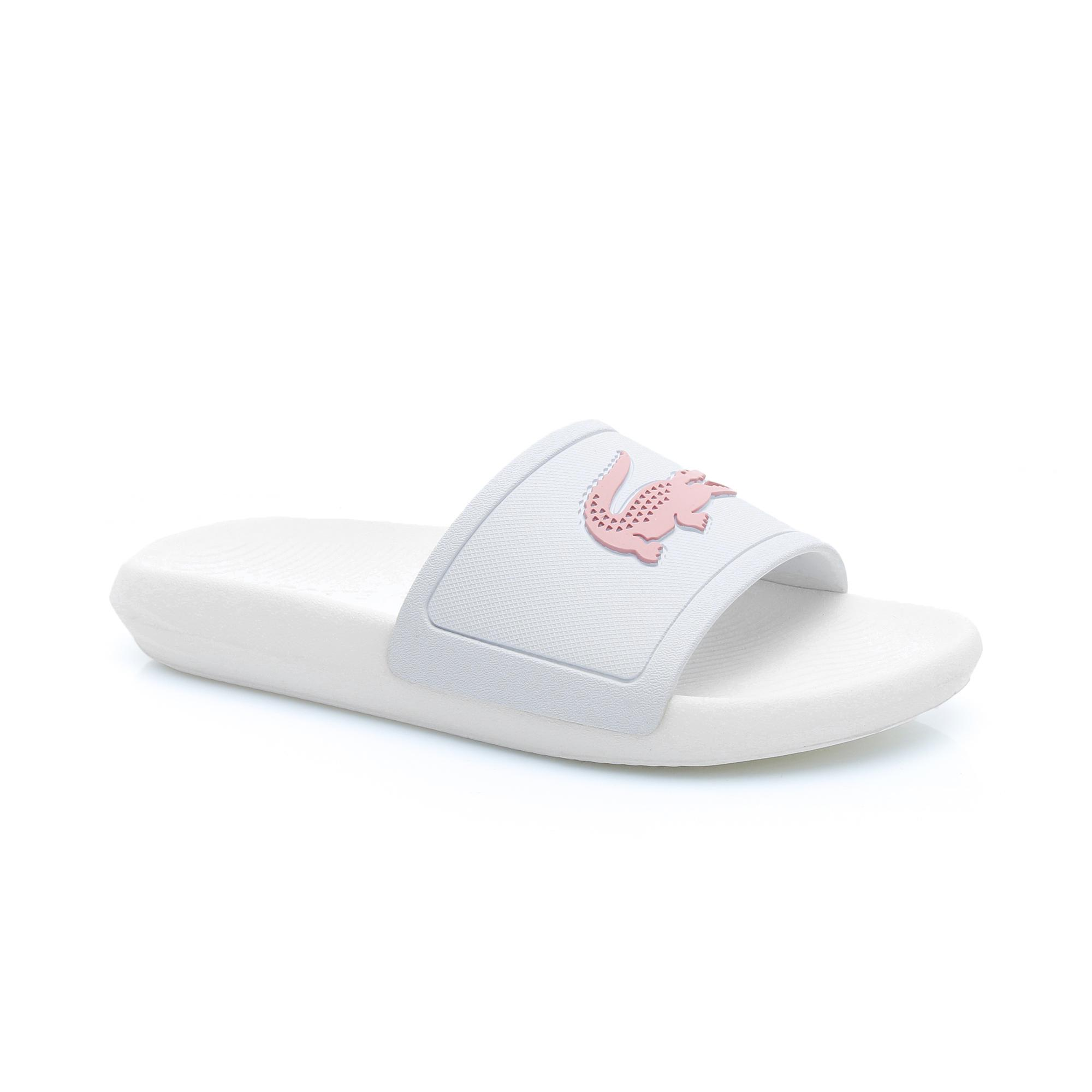 Lacoste Women's Croco Water-repellent Synthetic Slides