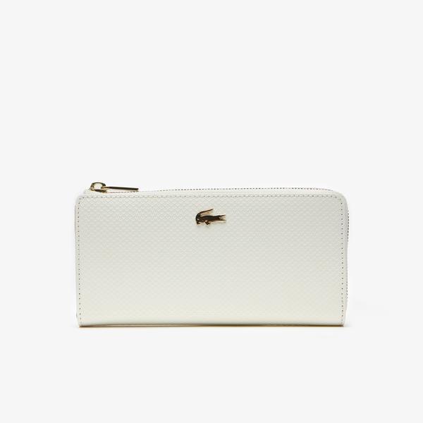 Lacoste Women's Chantaco Piqué Leather 8 Card Wallet