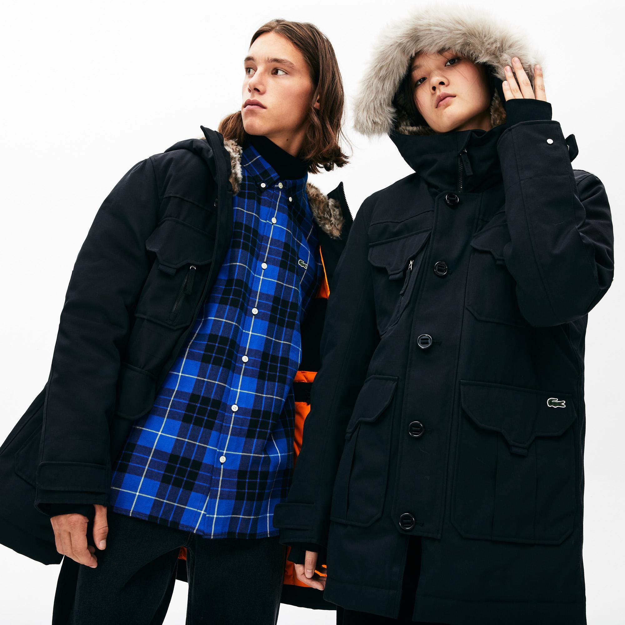 Lacoste L!VE Unisexfaux Fur Hooded Parka