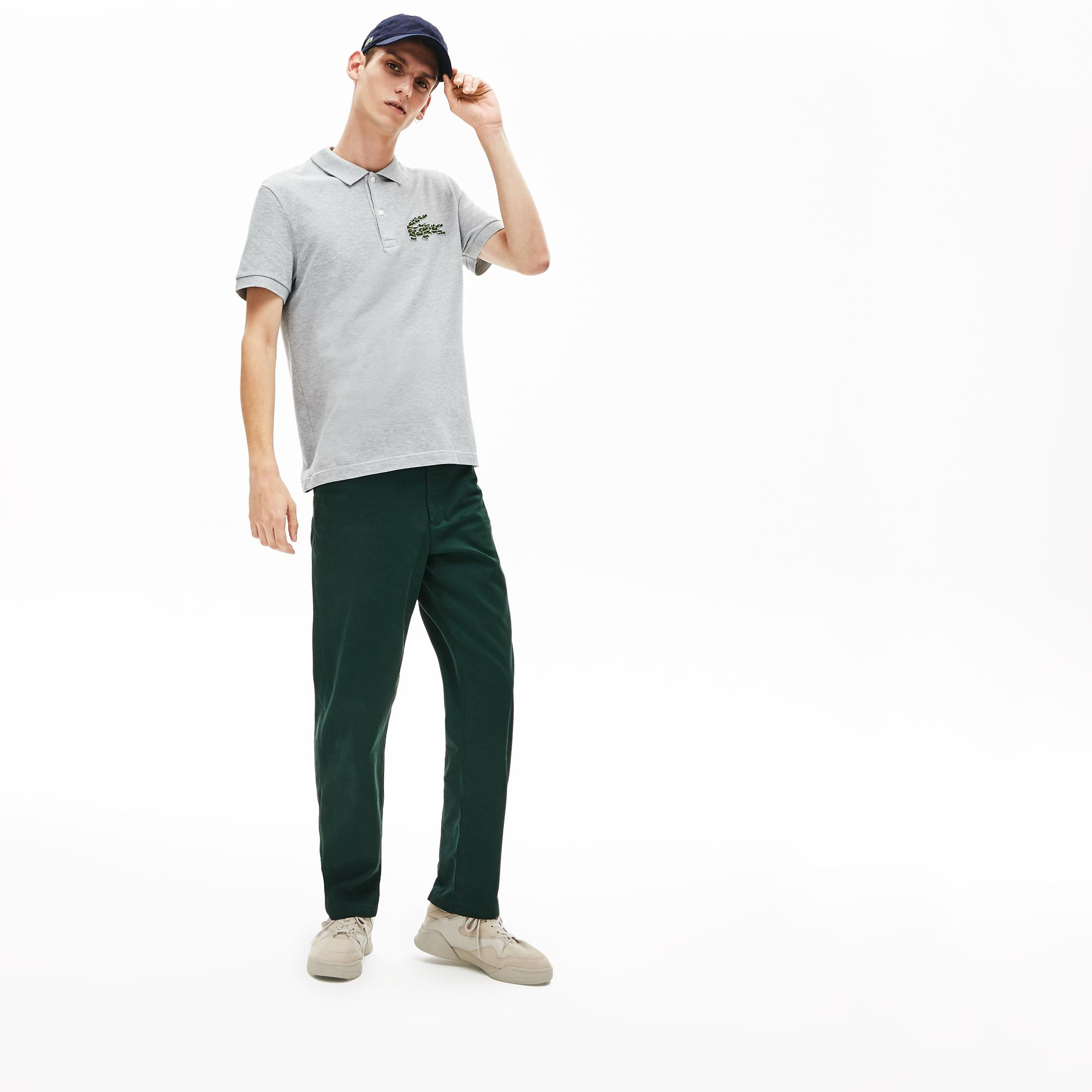 Lacoste Men's Regular Fit Multi Croc Badge Cotton Piqué Polo Shirt