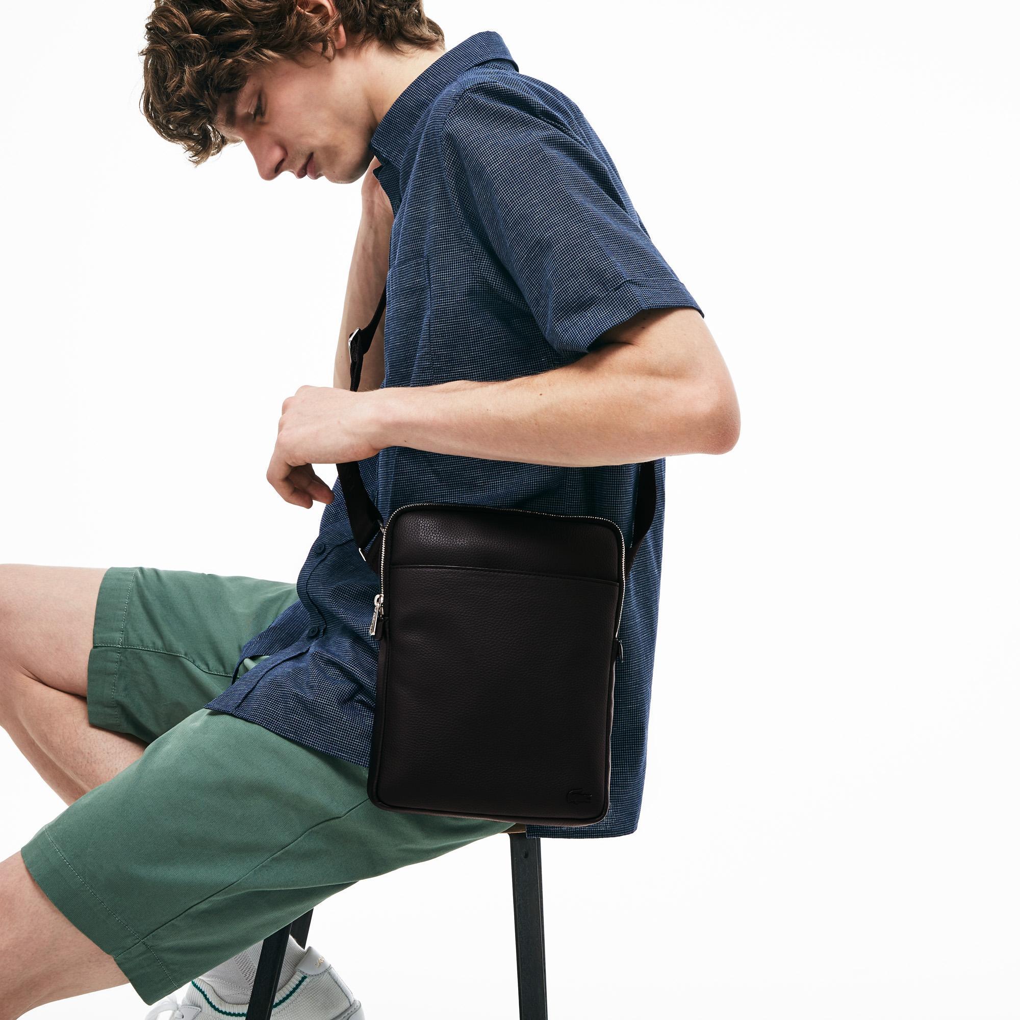 Lacoste Men's Gaël Coated Piqué Canvas Flat Belt Bag