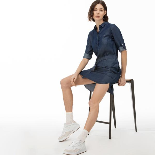 Lacoste Women's Short Sleeve Denim Dress
