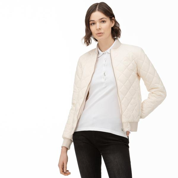 Lacoste Women's Stand-Up Collar Quilted Jacket