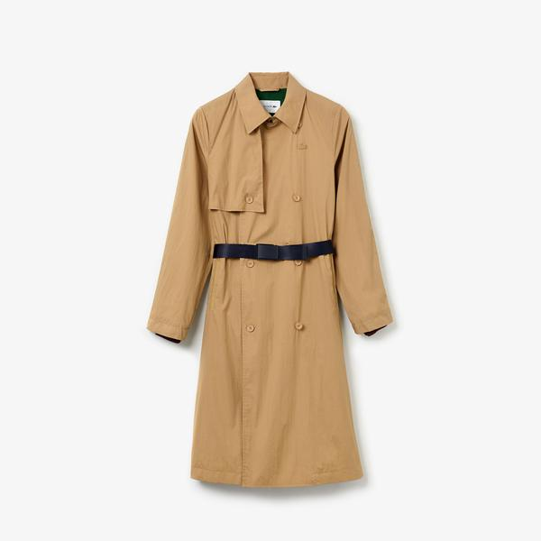 Lacoste Women's Contrast Belt Trench Coat