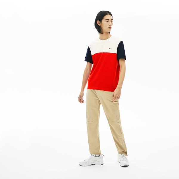 Lacoste Men's Cotton Colourblock Crew Neck T-Shirt