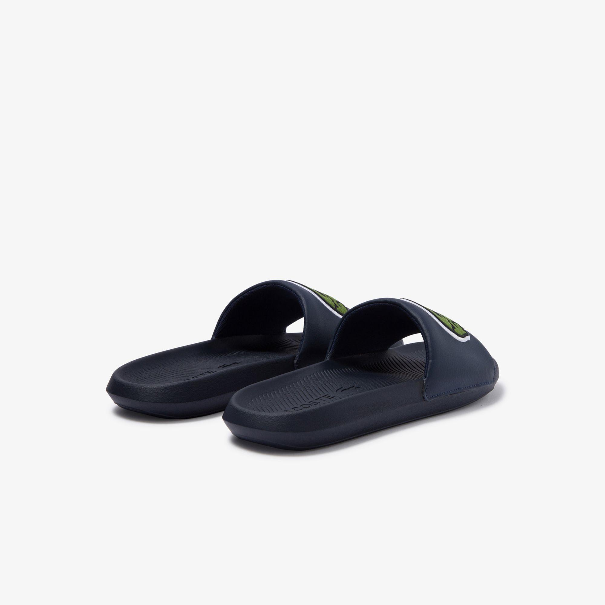 Lacoste Men's Croco Synthetic and PU Slides
