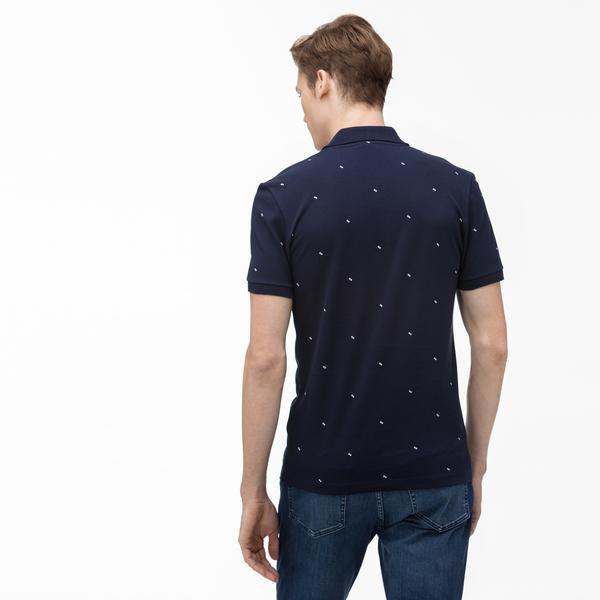 Lacoste Men's Slim Fit Graphic Polo