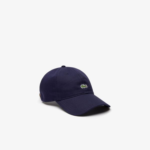 Lacoste Men's Contrast Strap And Crocodile Cotton Cap