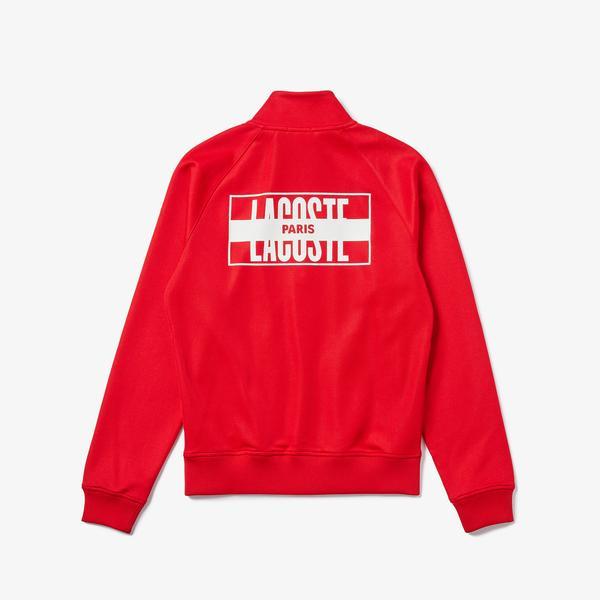 Lacoste L!VE Men's Print Back Tracksuit Jacket