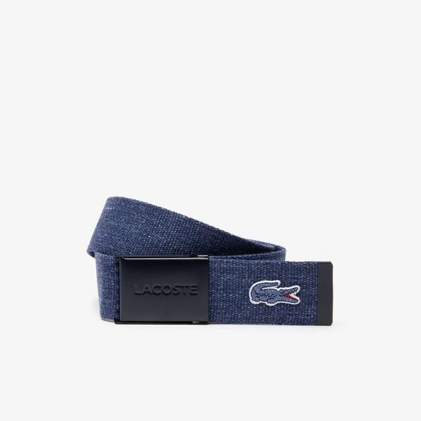 Lacoste Men's Embroidered Crocodile Belt