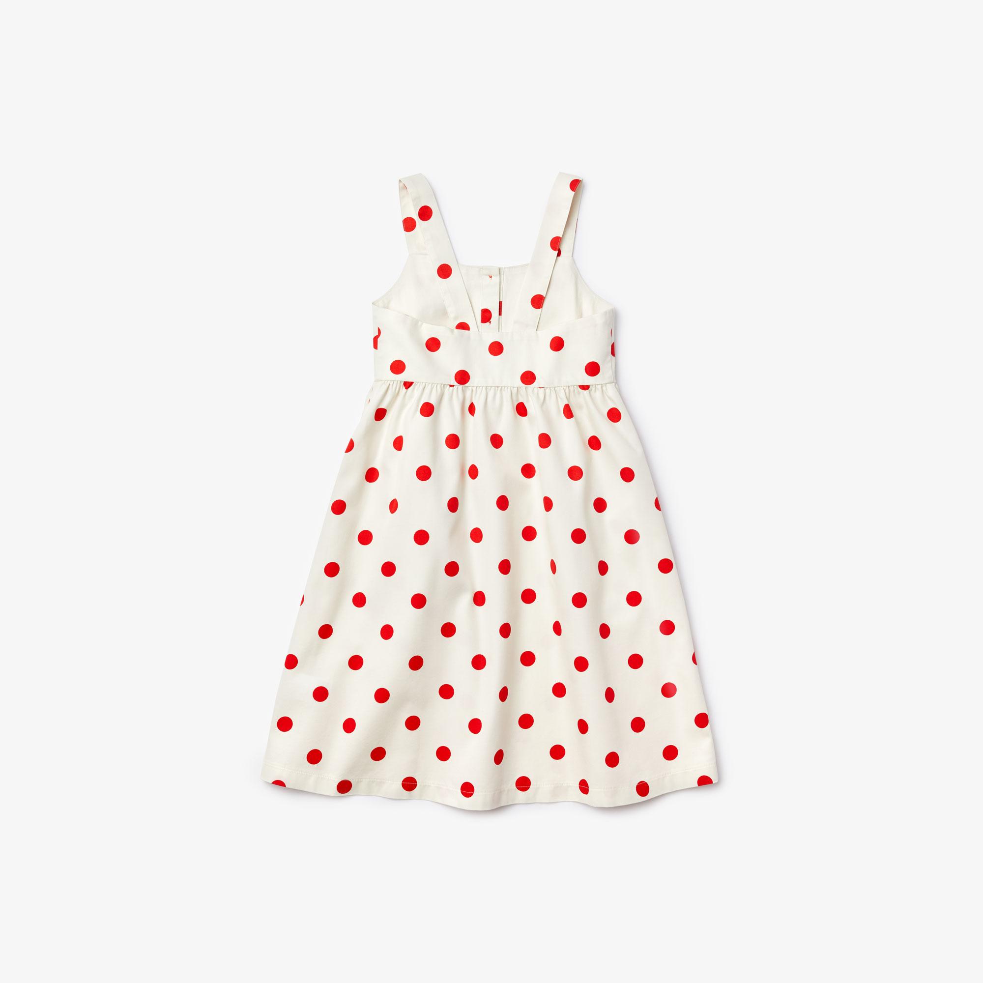 Lacoste Girls' Polka Dot Cotton Dress