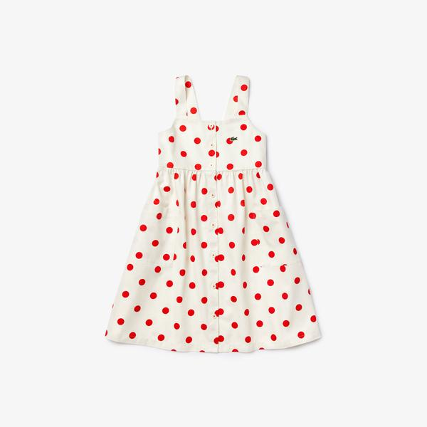 Lacoste Girl's Cotton Polka Dot Dress