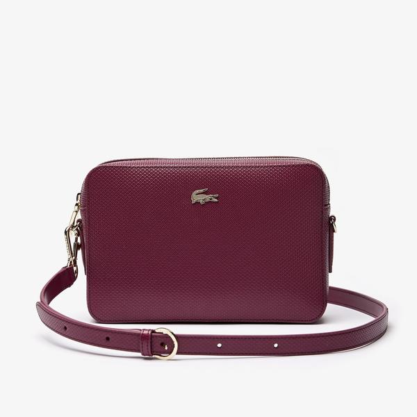 Lacoste Women's Chantaco Piqué Leather Square Shoulder Bag