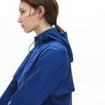 Lacoste Women's Wind And Water-Resistant Foldable Windbreaker