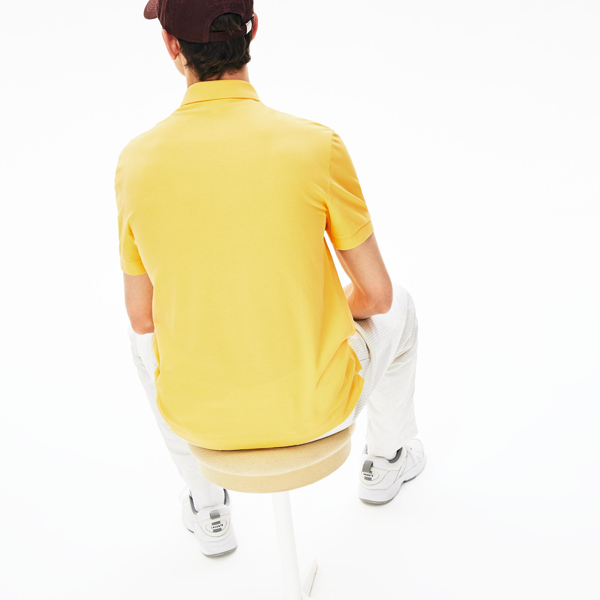Lacoste Men's Paris Polo Regular Fit Stretch Cotton Piqué