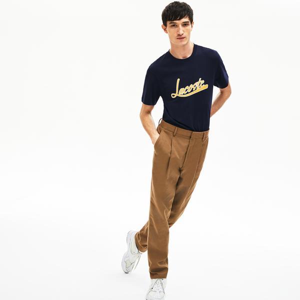 Lacoste Men's Signature Print Crew Neck T-Shirt