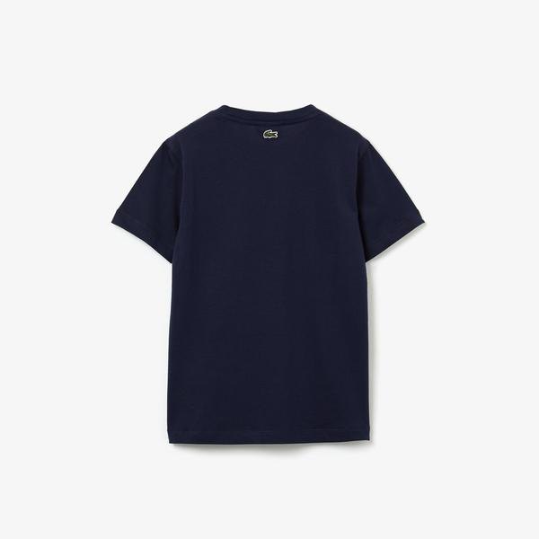 Lacoste Kids' Round Neck Graphic T-Shirt