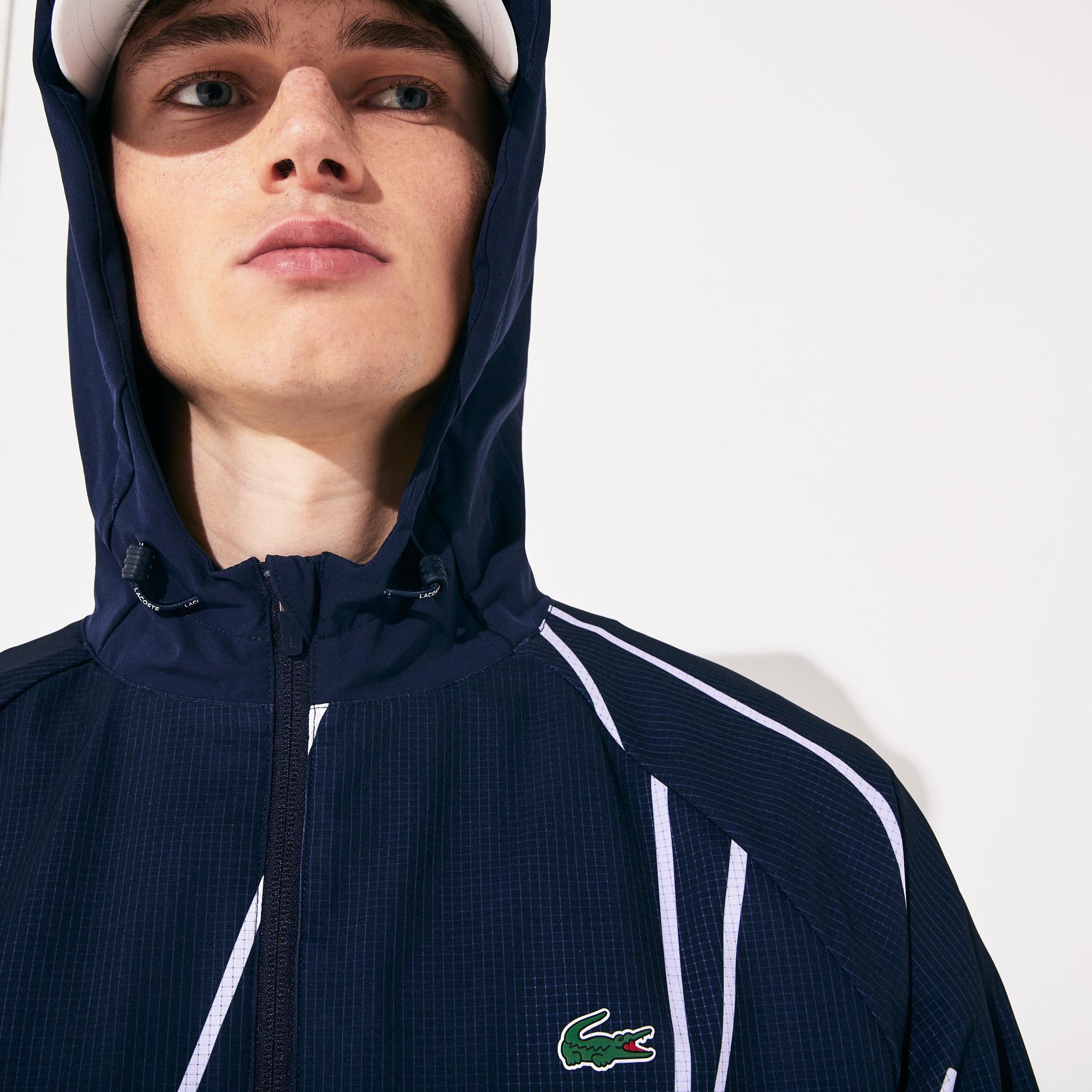 Lacoste Men's Sport Graphic Hooded Jacket