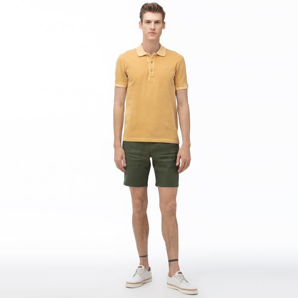 Lacoste Men's Linen Bermuda Shorts