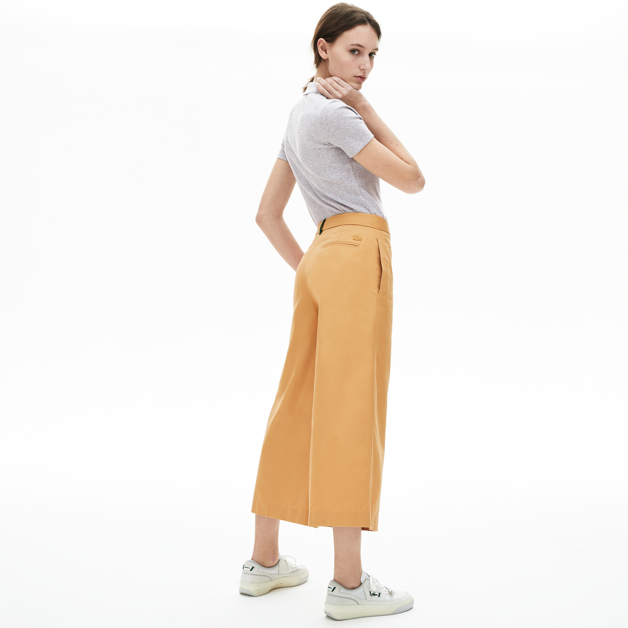Lacoste Women's Ribbed Cotton Polo