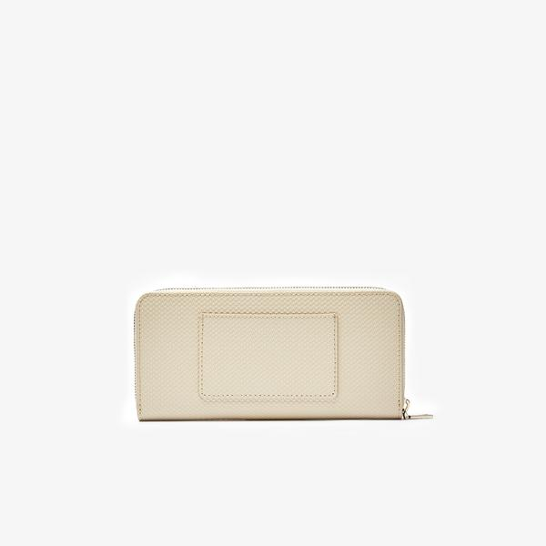 Lacoste Women's Chantaco Piqué Leather 12 Card Zip Wallet