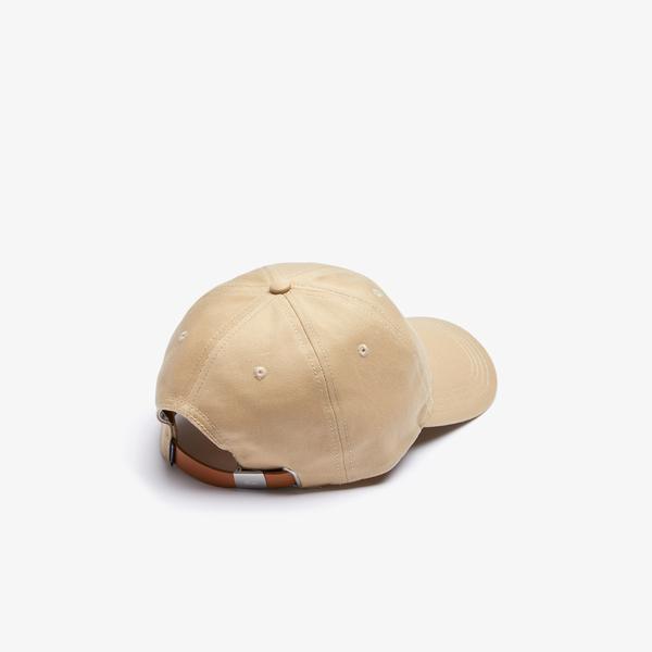 Lacoste Men's Contrast Strap And Crocodile Cotton Cap