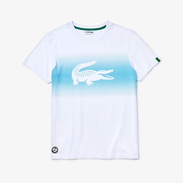 Lacoste Men's Sport Roland Garros Croc Print T-Shirt