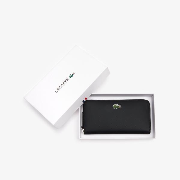 Lacoste Women's L.12.12 Concept Petit Piqué 12 Card Zip Wallet