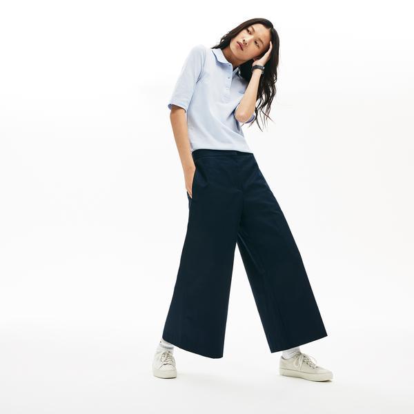 Lacoste Women's Wide Premium Cotton Pants