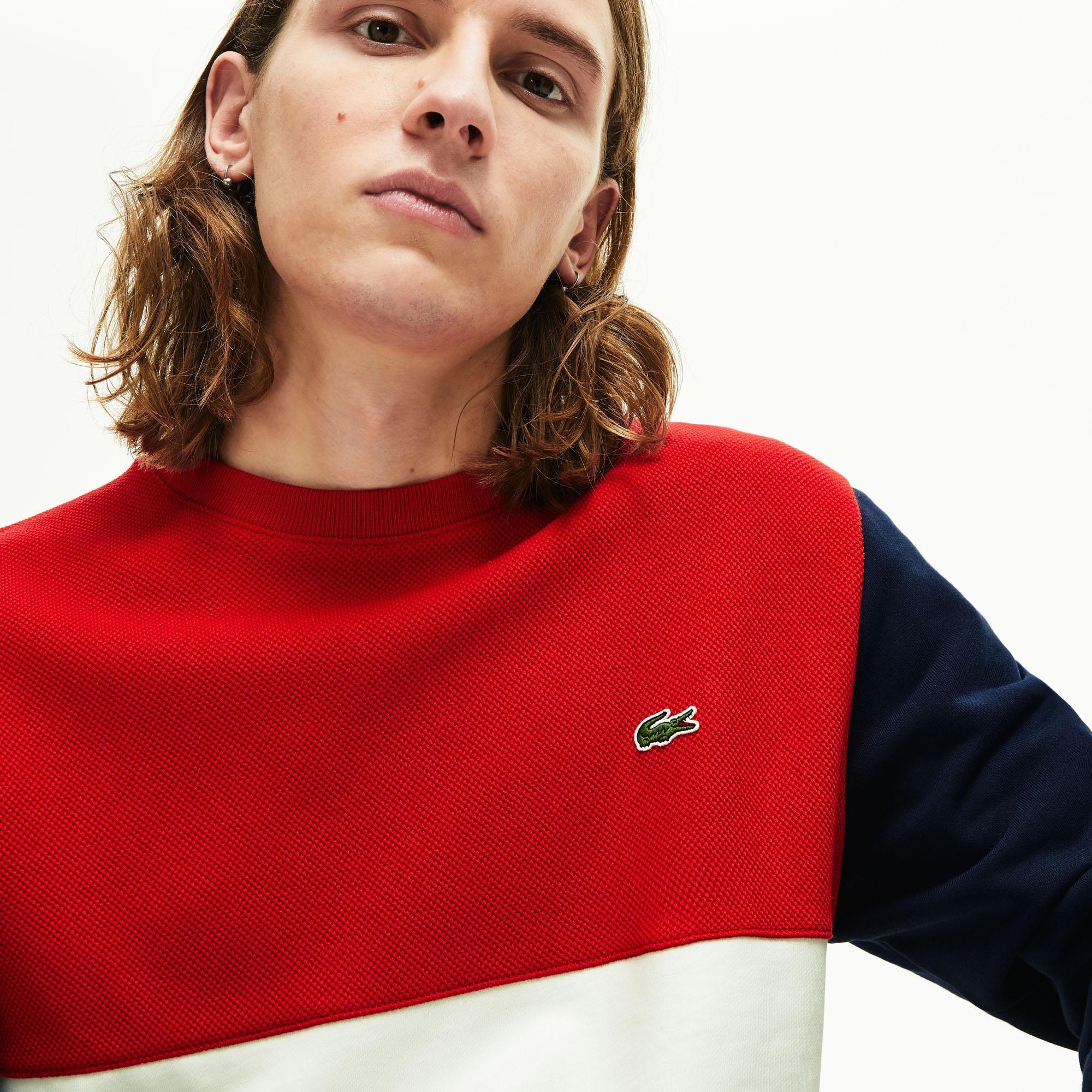 Lacoste Men's Colourblock Crew Neck Sweatshirt