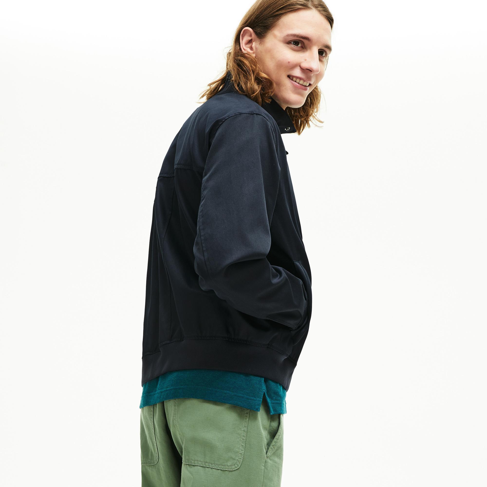Lacoste Men's Lightweight Cotton Zip Harrington Jacket