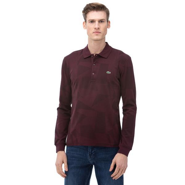 Lacoste Men's Regular Fit Jacquard Cotton Piqué Polo Shirt