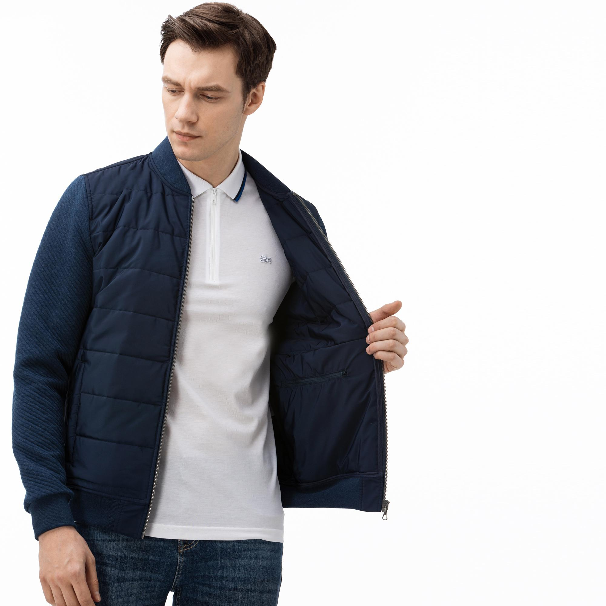 Lacoste Men's Quilted Zipped Sweater