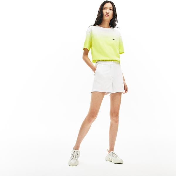 Lacoste Women's Made İn France Contrast Stitching Shorts