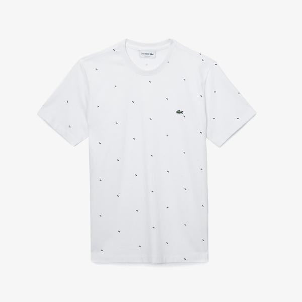 Lacoste Men's Round Neck Graphic T-Shirt